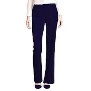 Liz Claiborne Womens Audra Trouser Pants Navy New